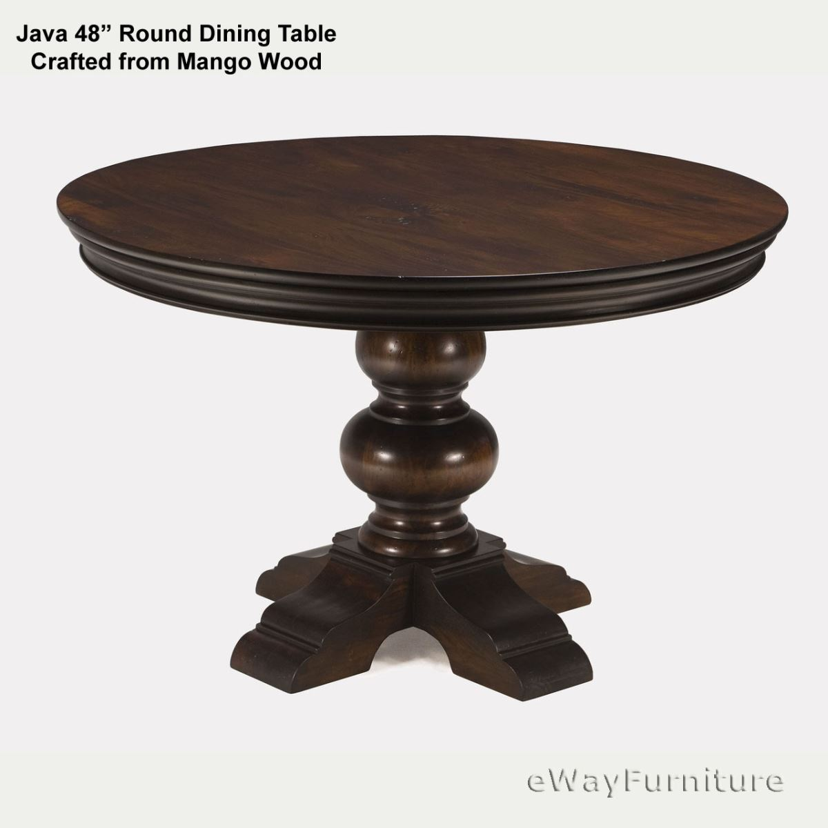 Java Round Dining Table 48 Inch