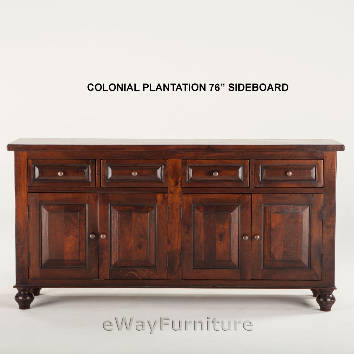 colonial plantation 76 inch sideboard. Black Bedroom Furniture Sets. Home Design Ideas