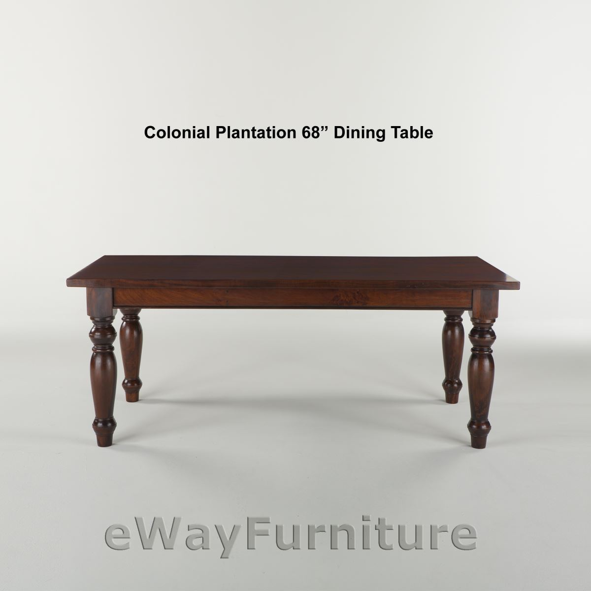 Colonial Plantation Inch Dining Table - 68 inch dining table