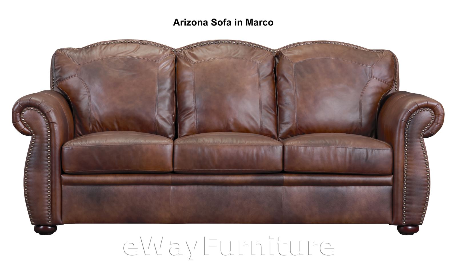 Arizona Top Grain Leather Sofa In Marco