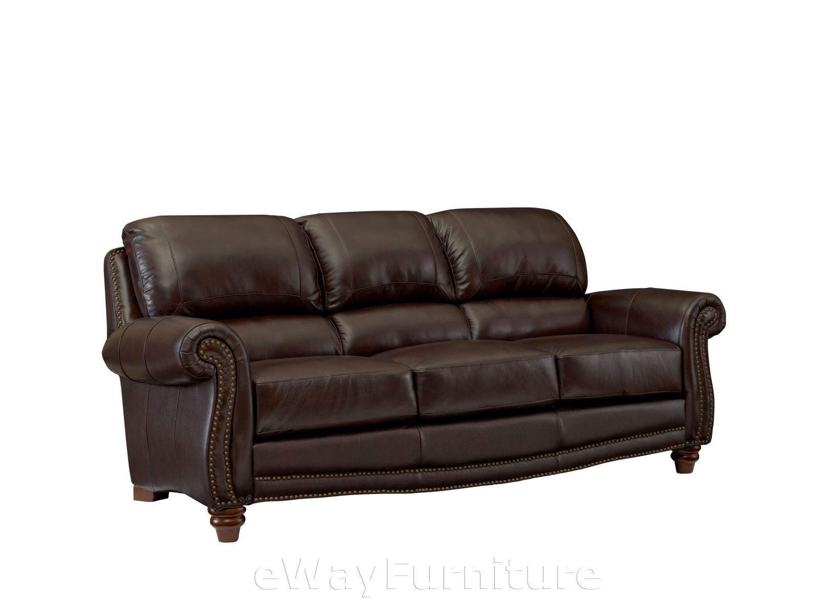 James Top Grain Leather Sofa In Tobacco