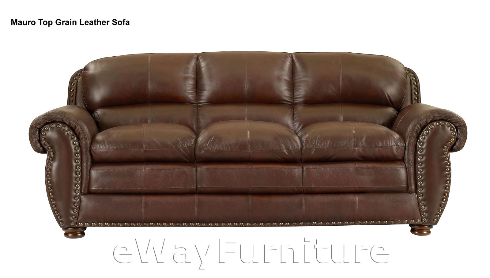 Mauro Top Grain Leather Sofa