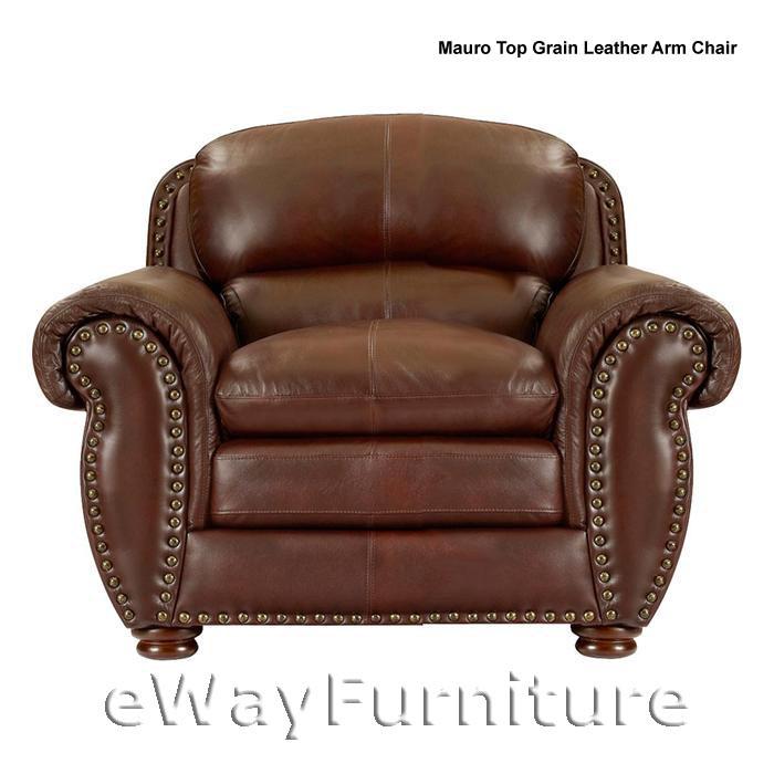 Mauro Top Grain Leather Arm Chair