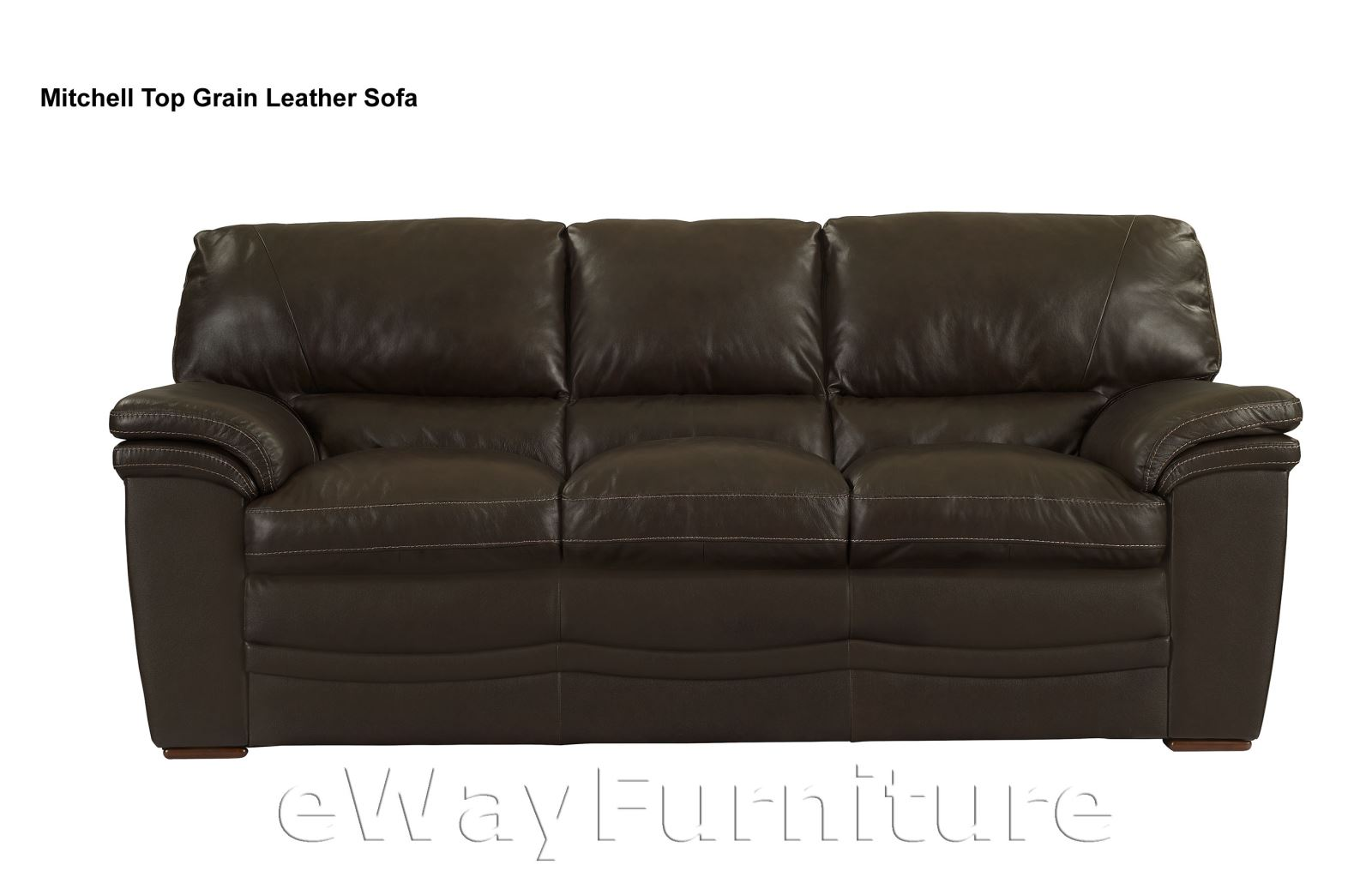 Mitchell mahogany top grain leather sofa quality living - Best quality living room furniture ...