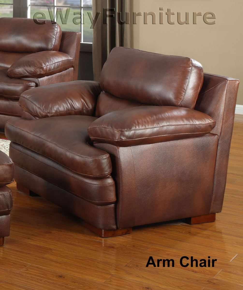 baron top grain leather arm chair. Black Bedroom Furniture Sets. Home Design Ideas