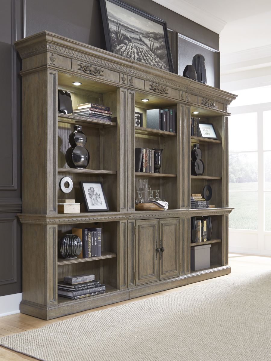 Home Library Furniture: Aspen Home Belle Maison Library Bookcase Wall Home Office