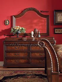 Bestseller vineyard sleigh king bed master bedroom furniture set napa style ebay for Napa valley bedroom furniture