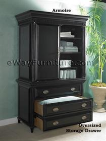 American Federal Distressed Black Sleigh Queen Bed Wood Bedroom Furniture Online Ebay