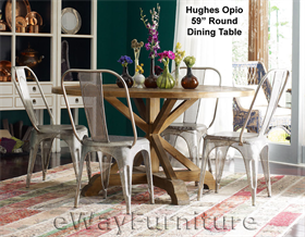 Hughes Opio 59 Inch Round Dining Table