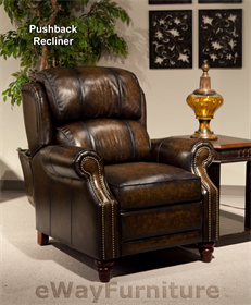 Superior Parker Living Twain Black Brown Leather Pushback Recliner