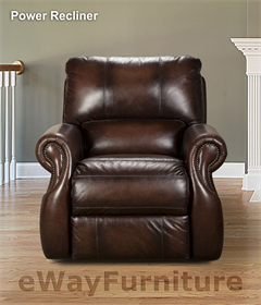 New Parker Living Durable Hawthorne Brown Leather Dual Power Recliner Loveseat Ebay