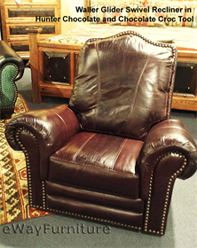 Chocolate and Chocolate Croc Top Grain Leather Recliner Made In USA & 100% Hand Cut Top Grain Leather Recliner Made In USA Texas islam-shia.org