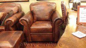 arizona top grain leather chair in marco